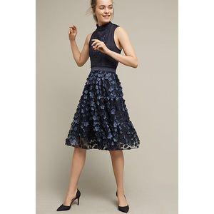 Anthropologie Eva Franco Blue Buttercup Midi Skirt